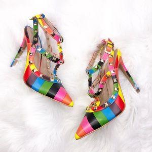 Shoe Republic LA Colorful Heels